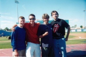 Callum, Early & friends at an Ottawa Lynx game when we were just babies