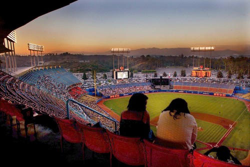 Stadiums In Los Angeles. Los Angeles Dodgers Stadium.