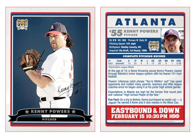 Kenny Powers Rookie Card