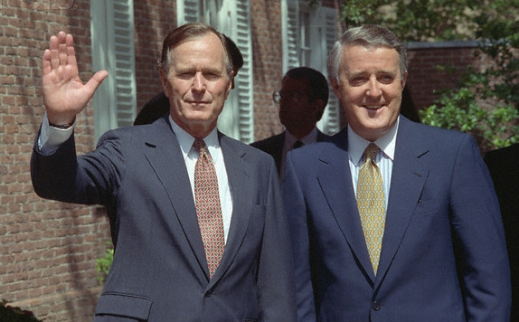 George Bush Brian Mulroney